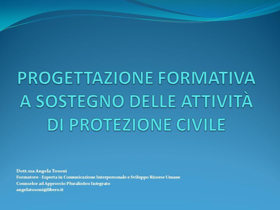PROGETTAZIONE FORMATIVA A SOSTEGNO DELLE ATTIVITÀ DI PROTEZIONE CIVILE