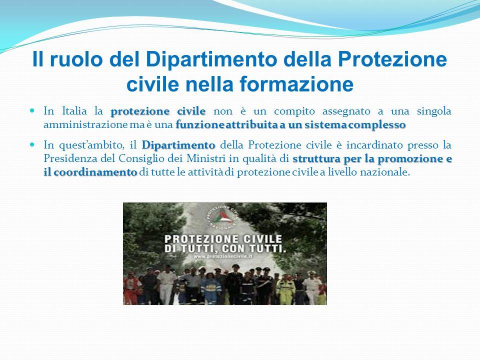Il ruolo del Dipartimento della Protezione civile nella formazione