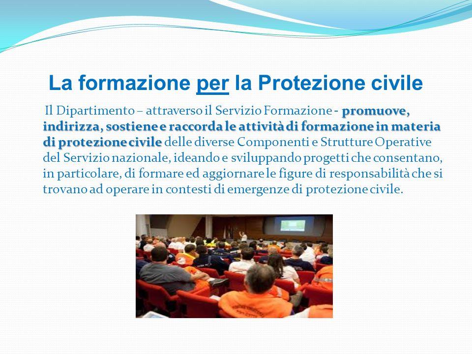 La formazione per la Protezione civile