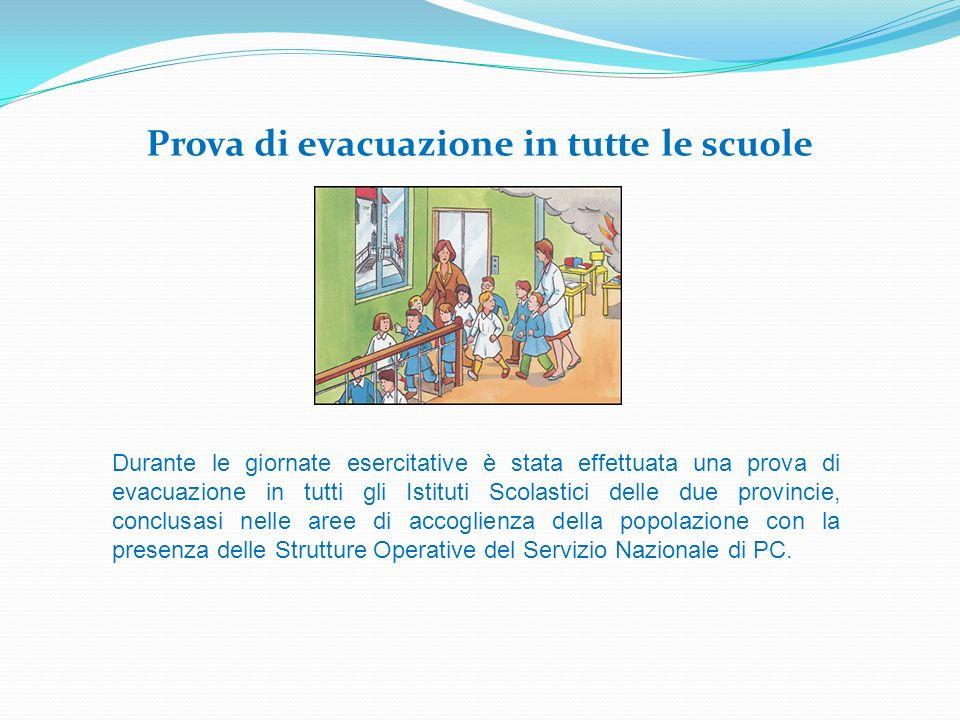 Prova di evacuazione in tutte le scuole