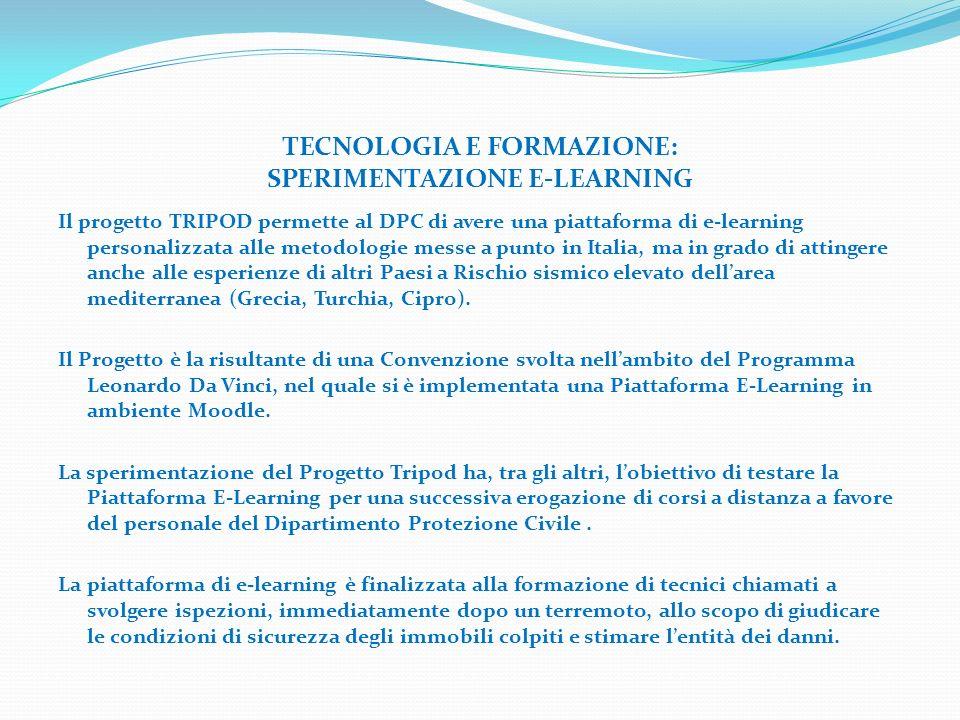 TECNOLOGIA E FORMAZIONE: SPERIMENTAZIONE E-LEARNING