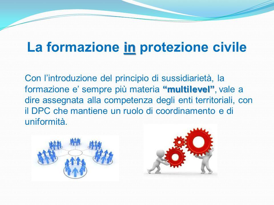 La formazione in protezione civile