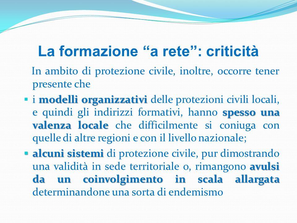 La formazione a rete : criticità