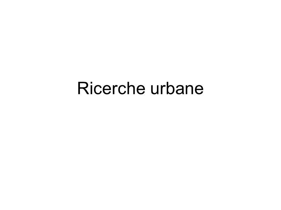 Ricerche urbane
