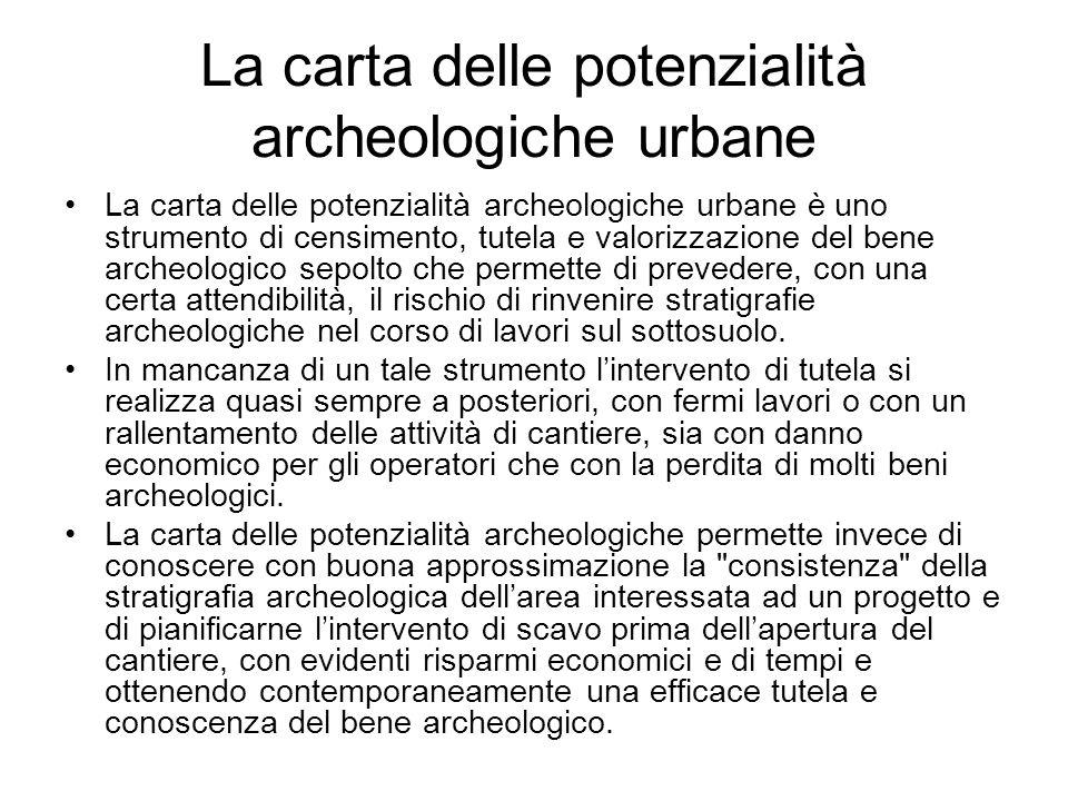 La carta delle potenzialità archeologiche urbane