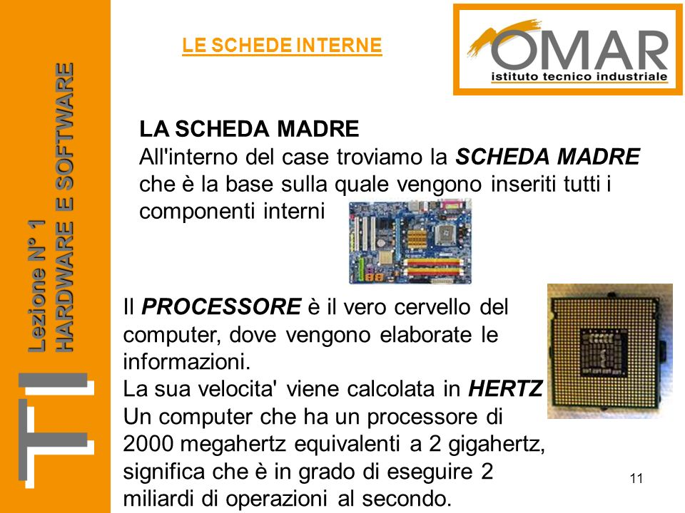 TI HARDWARE E SOFTWARE LA SCHEDA MADRE