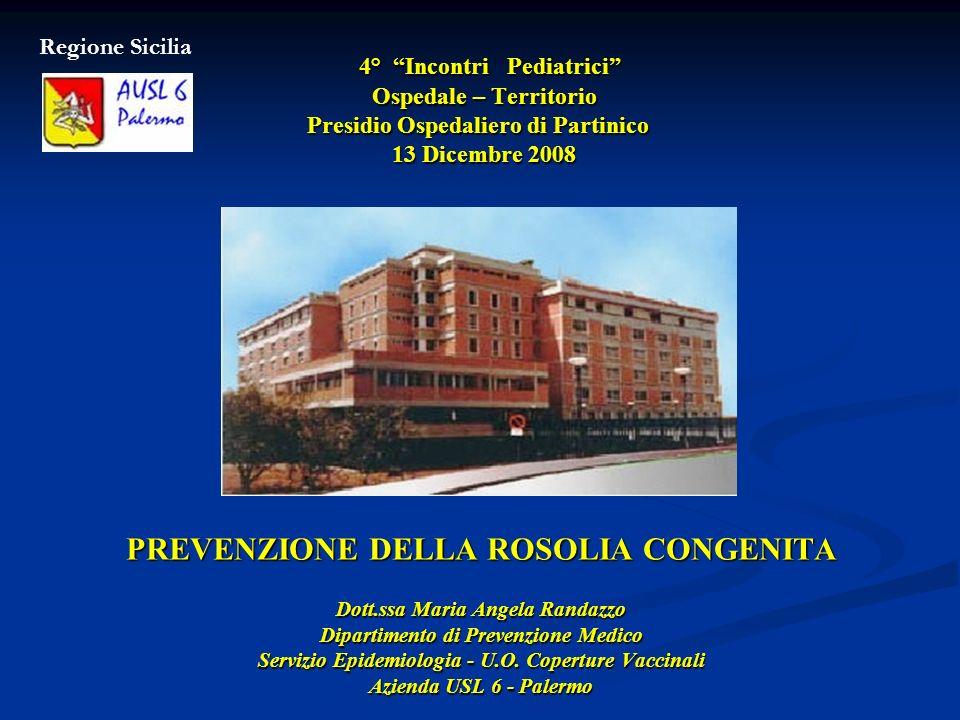 PREVENZIONE DELLA ROSOLIA CONGENITA