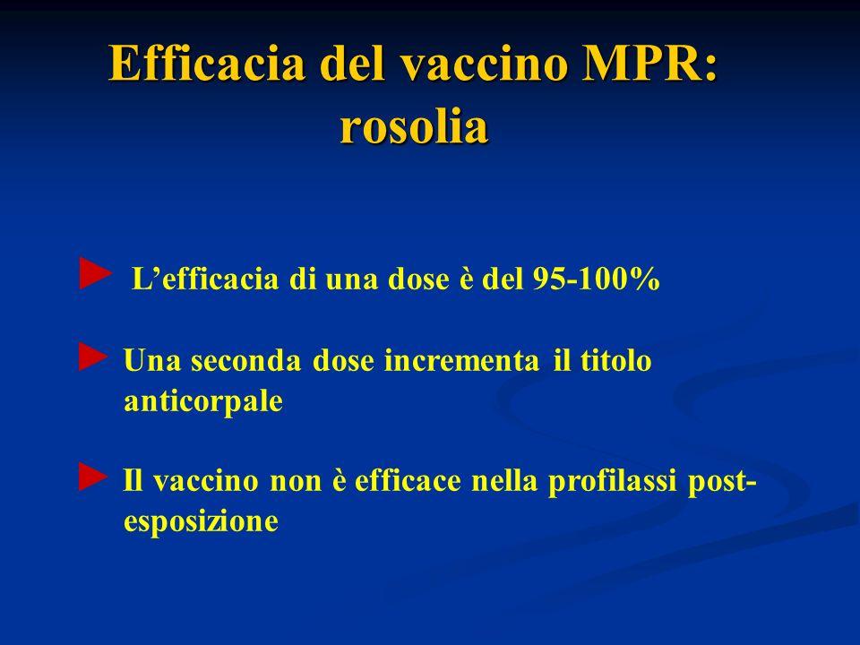 Efficacia del vaccino MPR: rosolia