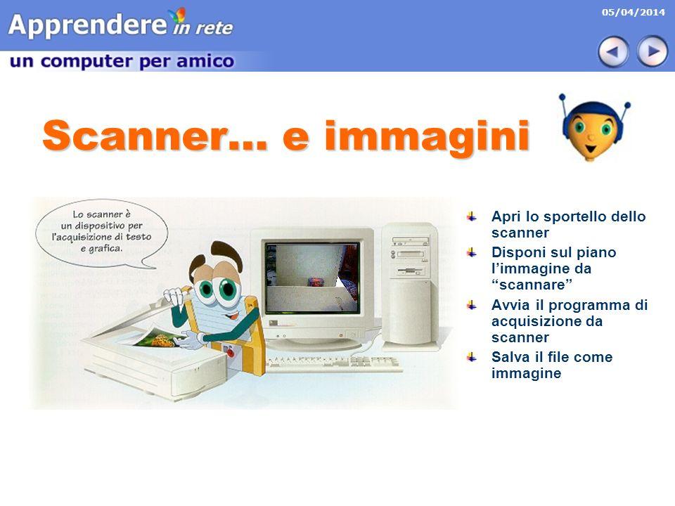 Scanner… e immagini Apri lo sportello dello scanner