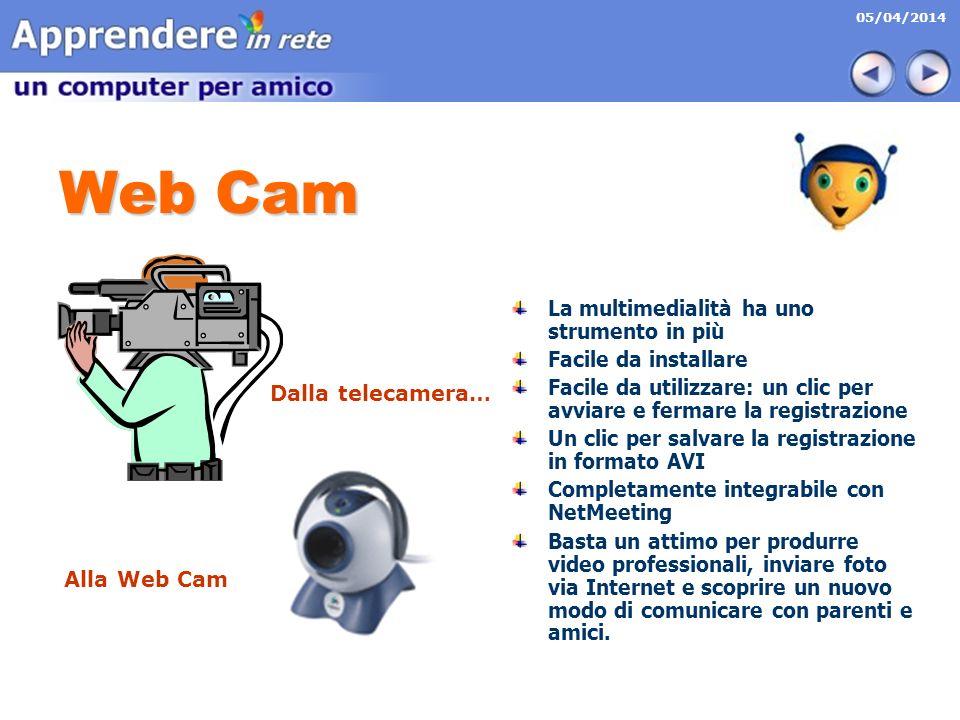 Web Cam La multimedialità ha uno strumento in più Facile da installare