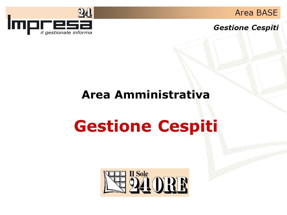 Area Amministrativa Gestione Cespiti