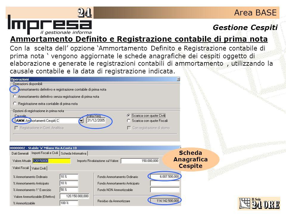 Ammortamento Definito e Registrazione contabile di prima nota