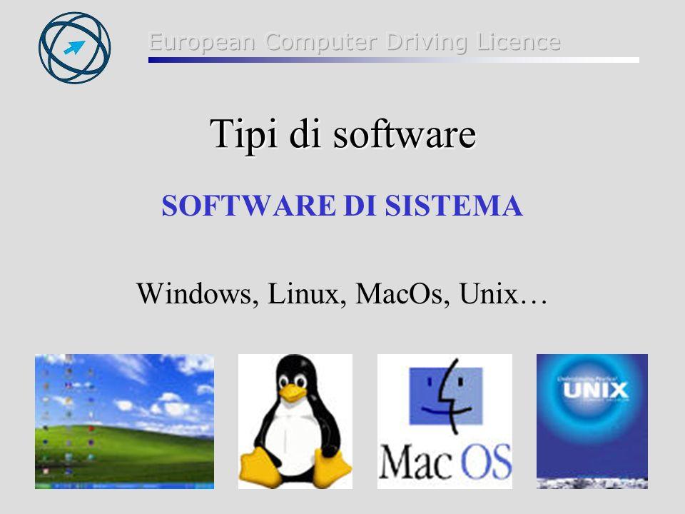 Windows, Linux, MacOs, Unix…