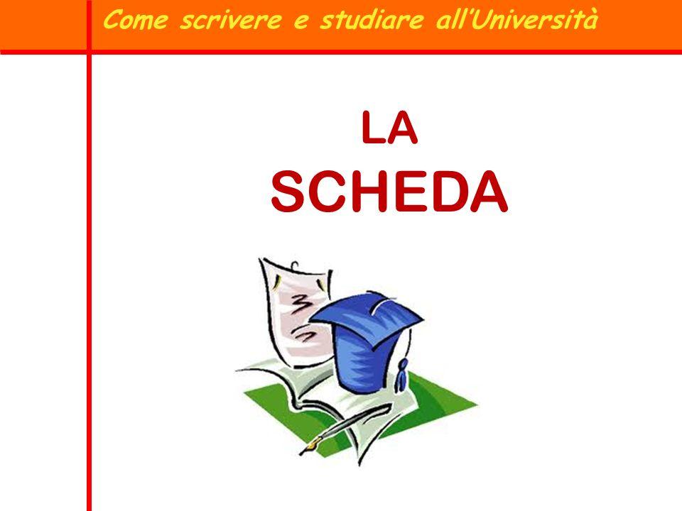 Come scrivere e studiare all'Università