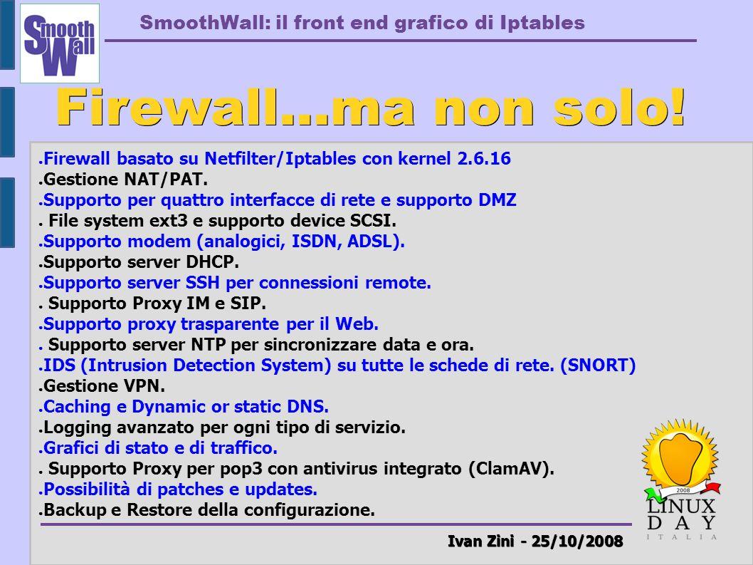 Firewall...ma non solo! Ivan Zini - 25/10/2008
