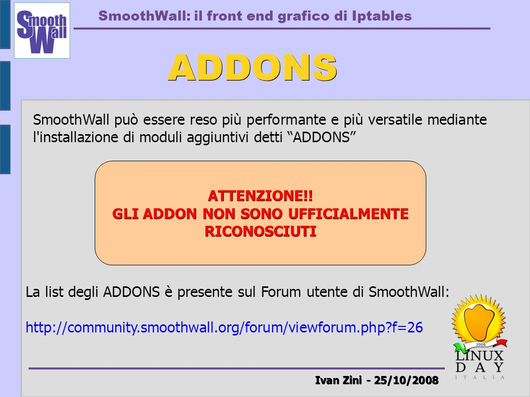 SmoothWall: il front end grafico di Iptables
