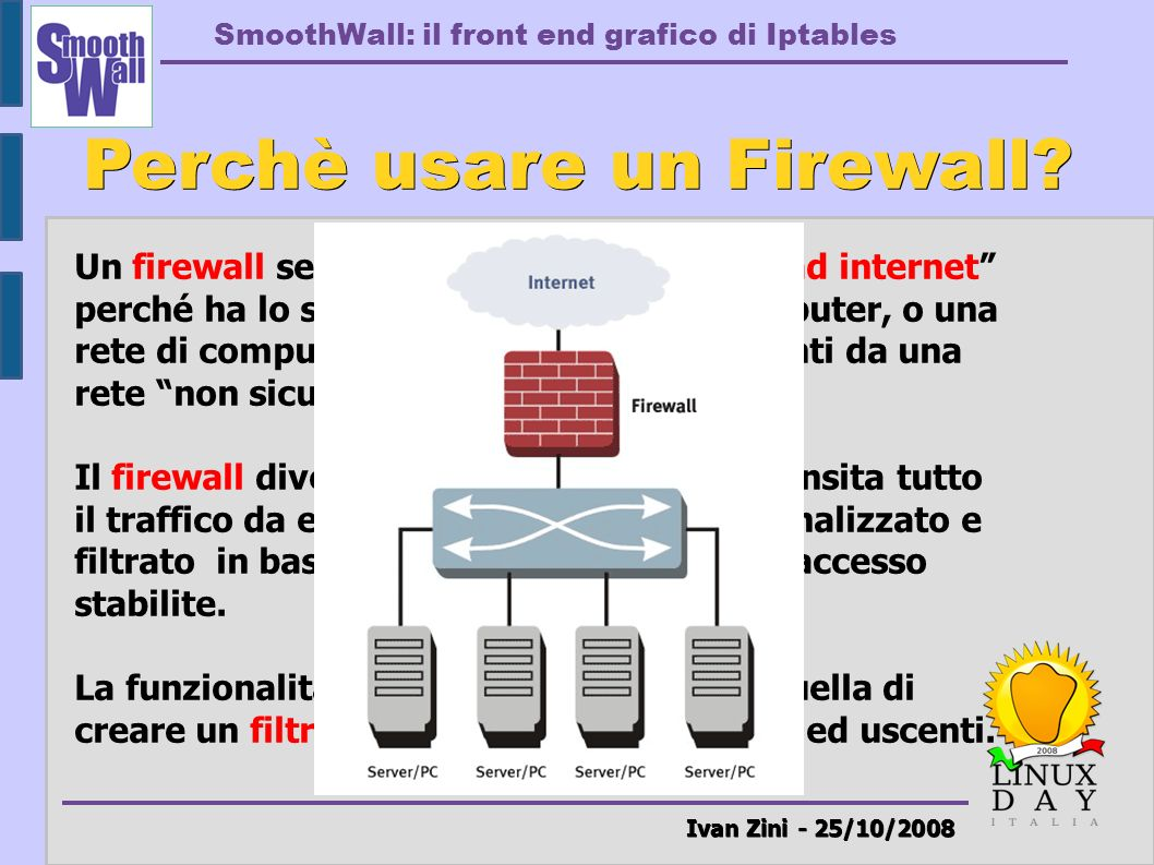 Perchè usare un Firewall Ivan Zini - 25/10/2008