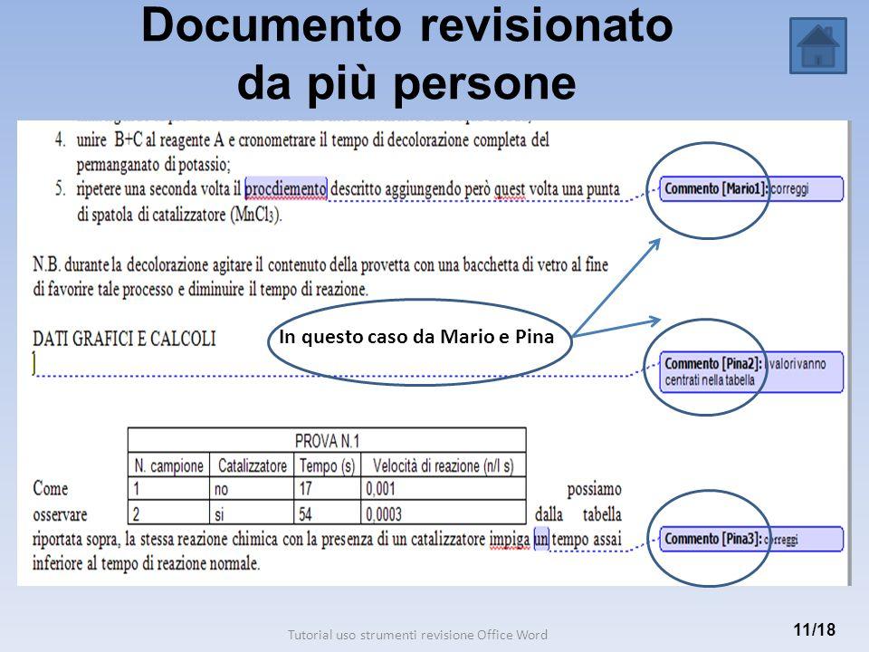 Documento revisionato da più persone