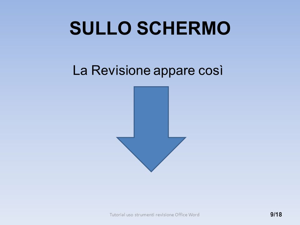 Tutorial uso strumenti revisione Office Word