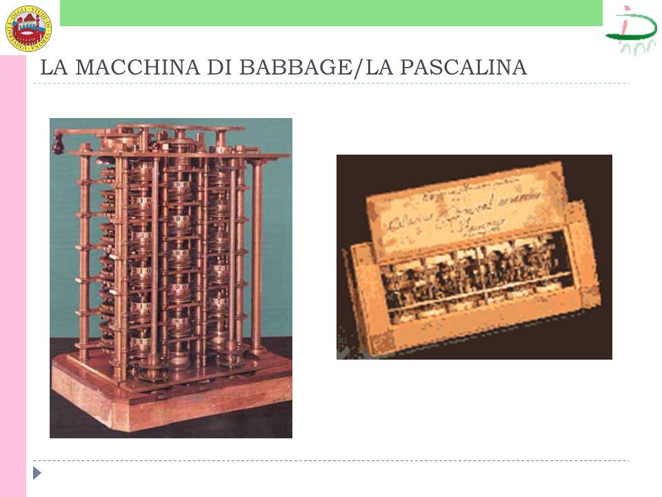 LA MACCHINA DI BABBAGE/LA PASCALINA