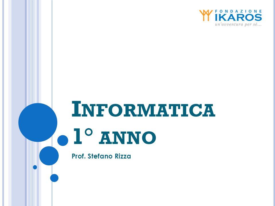 Informatica 1° anno Prof. Stefano Rizza