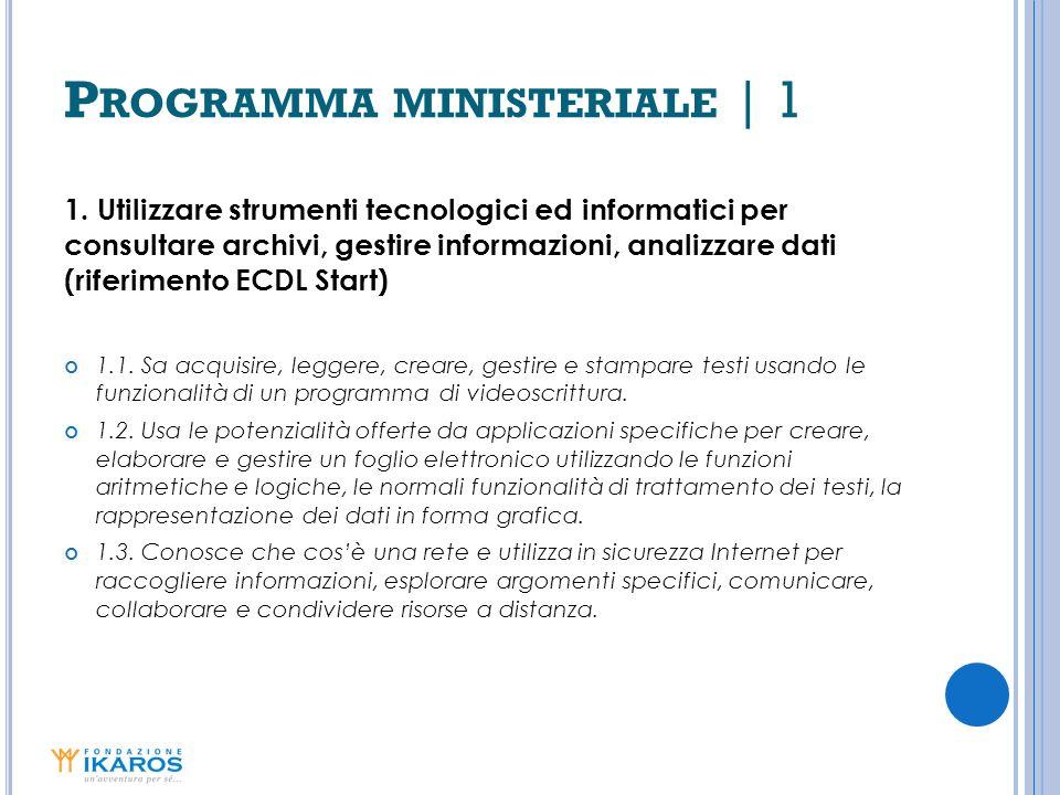 Programma ministeriale | 1
