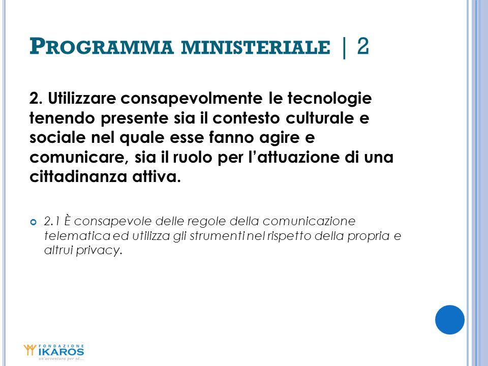 Programma ministeriale | 2