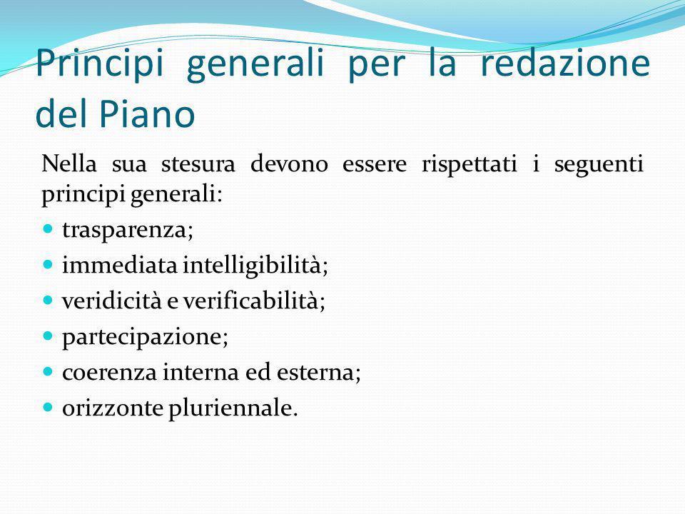 Principi generali per la redazione del Piano