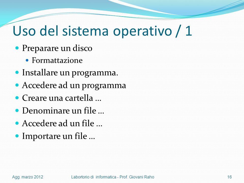 Uso del sistema operativo / 1