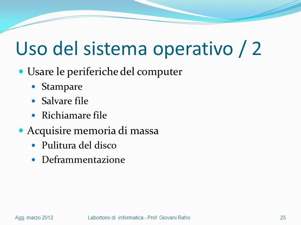 Uso del sistema operativo / 2