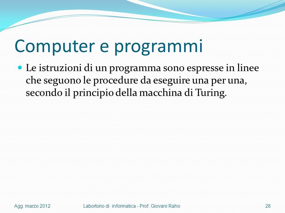 Computer e programmi