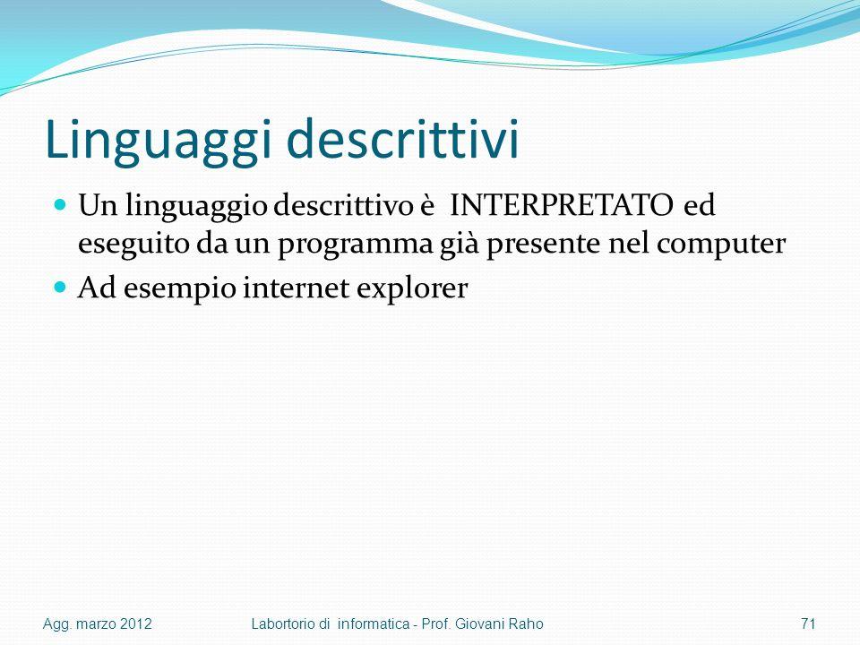 Linguaggi descrittivi