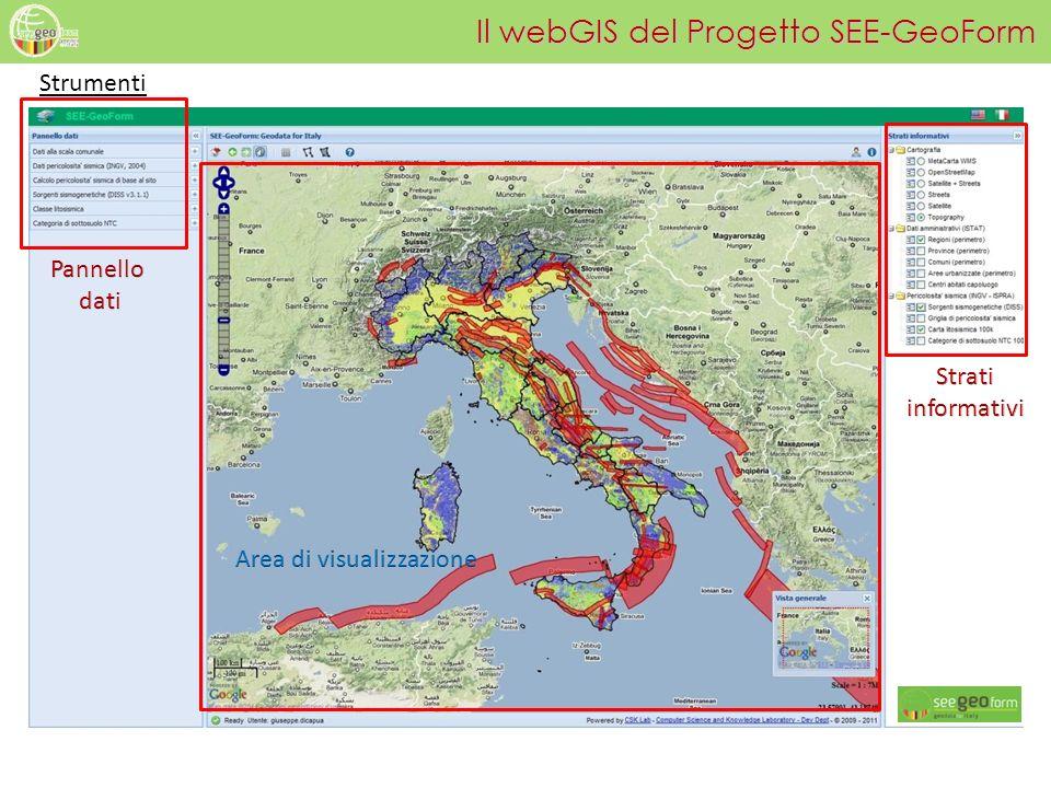Il webGIS del Progetto SEE-GeoForm