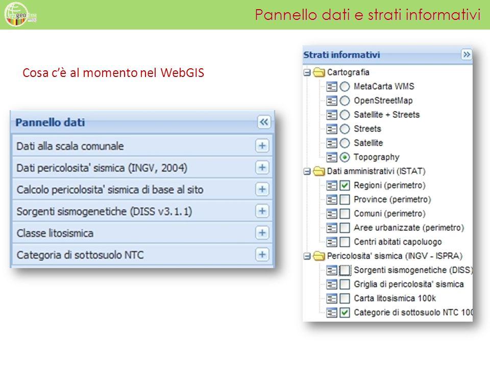 Pannello dati e strati informativi