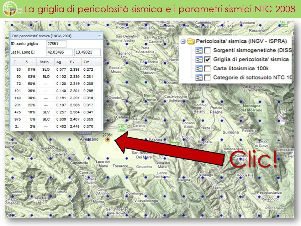 La griglia di pericolosità sismica e i parametri sismici NTC 2008