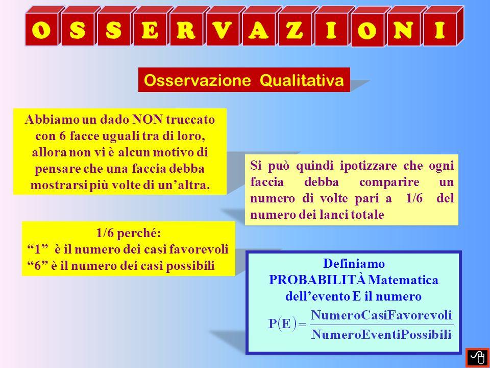 O S E R V A Z I N Osservazione Qualitativa 