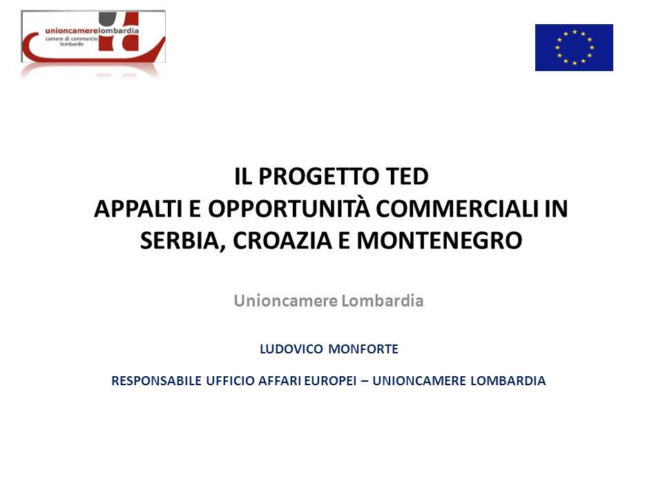 IL PROGETTO TED APPALTI E OPPORTUNITÀ COMMERCIALI IN SERBIA, CROAZIA E MONTENEGRO