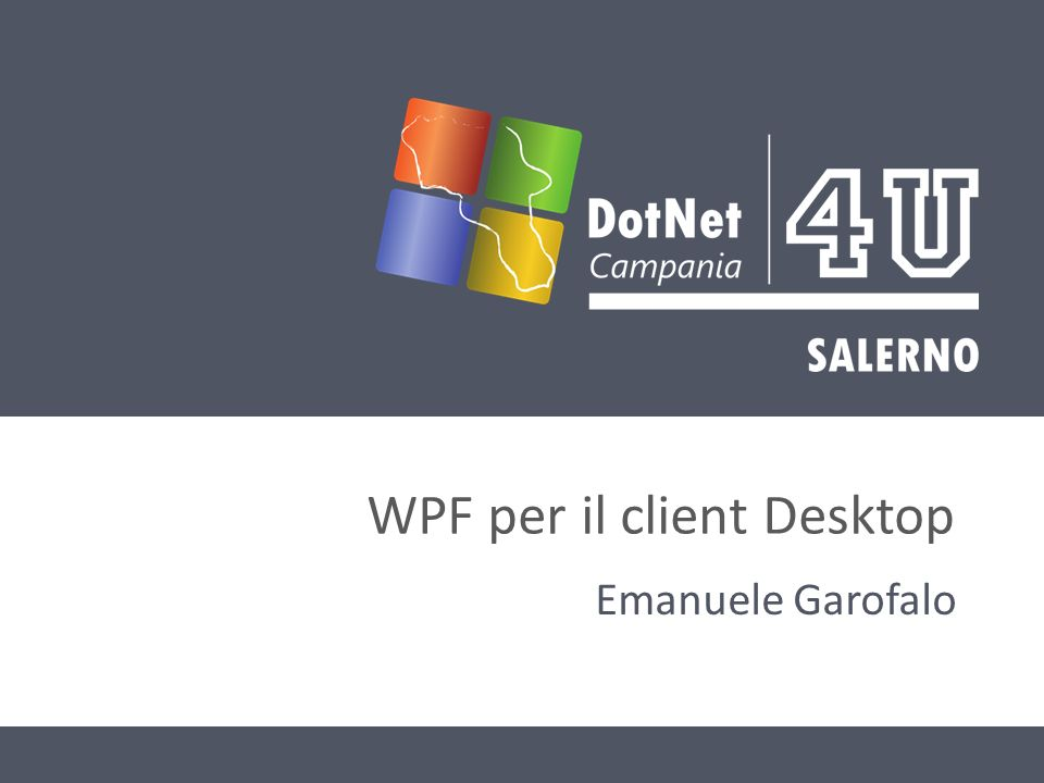 WPF per il client Desktop