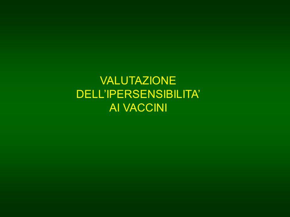 VALUTAZIONE DELL'IPERSENSIBILITA'