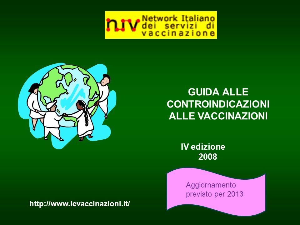 GUIDA ALLE CONTROINDICAZIONI