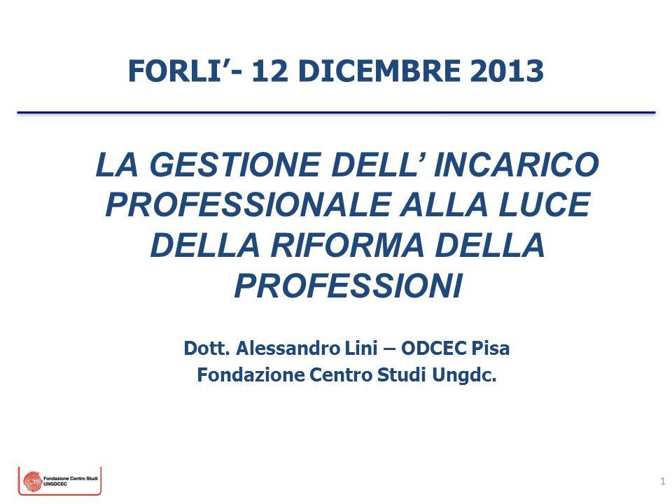 Dott. Alessandro Lini – ODCEC Pisa Fondazione Centro Studi Ungdc.