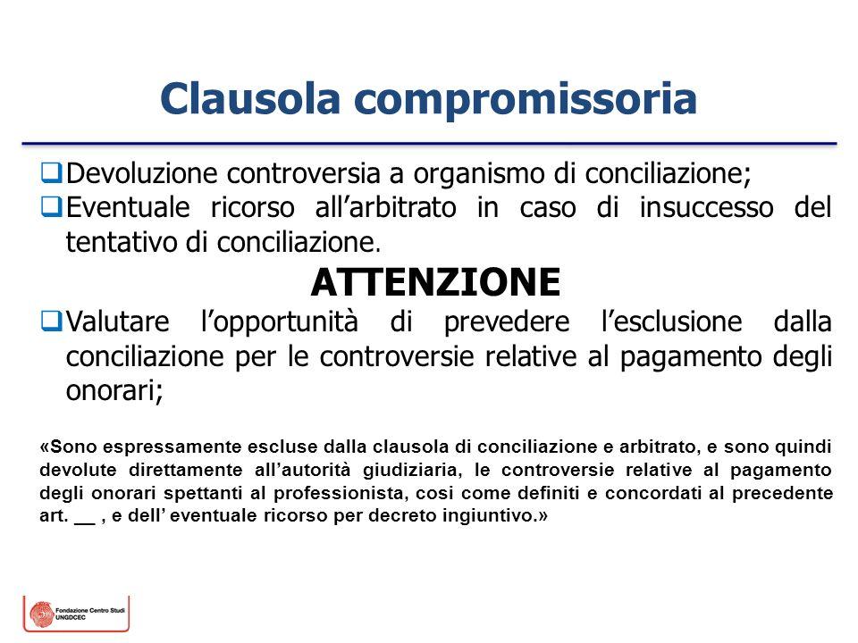 Clausola compromissoria