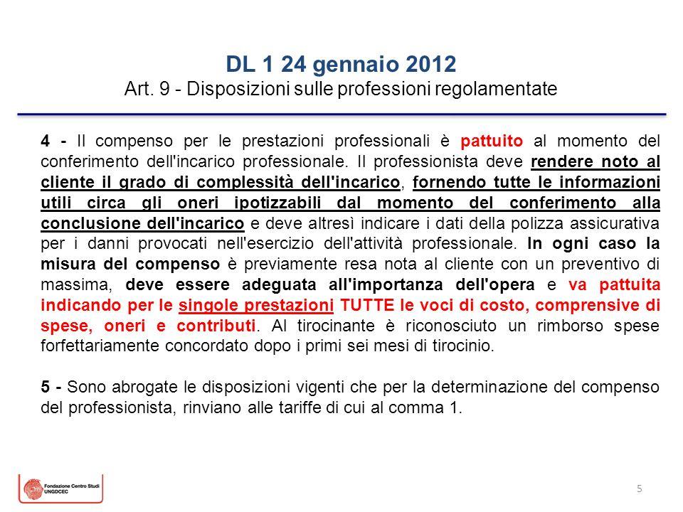 Art. 9 - Disposizioni sulle professioni regolamentate