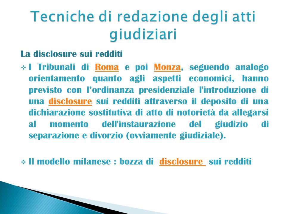 Tecniche di redazione degli atti giudiziari