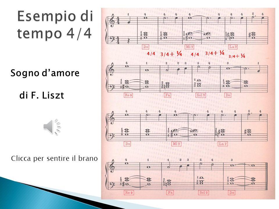 Esempio di tempo 4/4 Sogno d'amore di F. Liszt