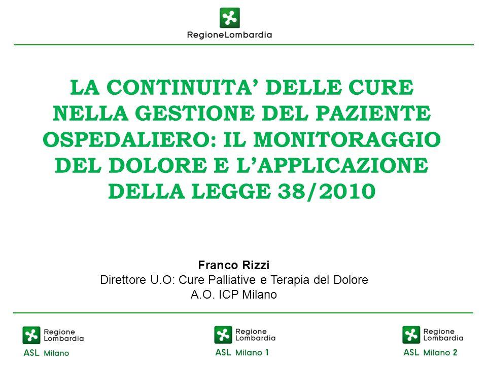 Direttore U.O: Cure Palliative e Terapia del Dolore