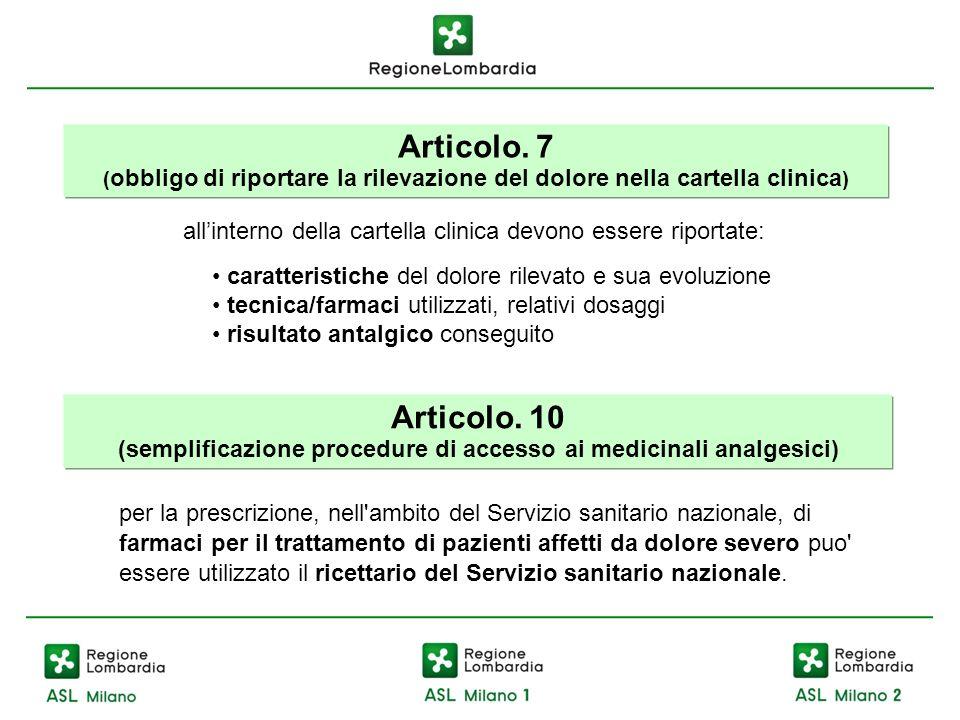 (semplificazione procedure di accesso ai medicinali analgesici)