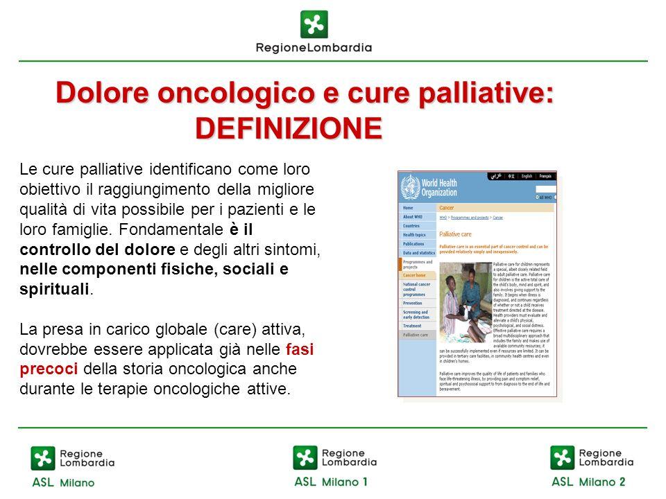 Dolore oncologico e cure palliative: DEFINIZIONE