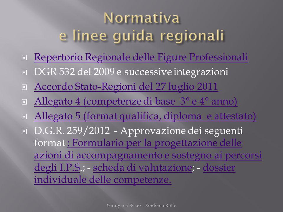 Normativa e linee guida regionali