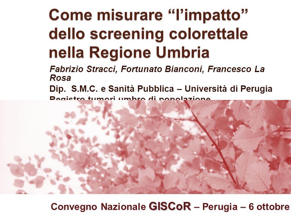 Come misurare l'impatto dello screening colorettale nella Regione Umbria